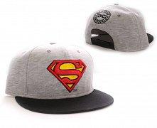 Superman Adjustable Cap Vintage Logo grey