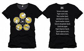 The Big Bang Theory T-Shirt Rock Paper Scissors black