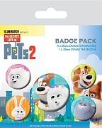 The Secret Life of Pets 2 Pin Badges 5-Pack For Pet\'s Sake