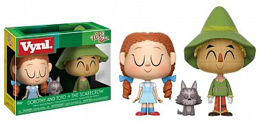 The Wizard of Oz VYNL Vinyl Figures 2-Pack Dorothy with Toto & Scarecrow  10 cm