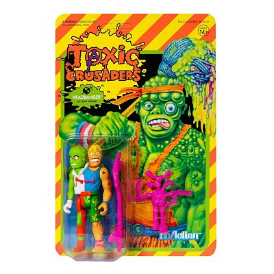 Toxic Crusaders ReAction Action Figure Wave 1 Headbanger 10 cm --- DAMAGED PACKAGING