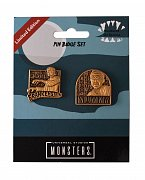 Universal Monsters Pin Badge 2-Pack Mummy & Frankenstein