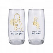Winnie the Pooh Drinking Glass 2-Pack Pooh & Piglet